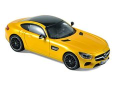 Norev 1:43 Mercedes Benz AMG Diecast Model Car 351346 This Mercedes Benz AMG GT (2015) Diecast Model Car is Yellow and has working wheels and also comes in a display case. It is made by Norev and is 1:43 scale (approx. 10cm / 3.9in long).    Merc's new flagship sports car was developed in-house by AMG and is powered by a 4 litre V8 engine with 7 speed, double clutch gearbox.  #Norev #ModelCar #MercedesBenz #MiniModelCars