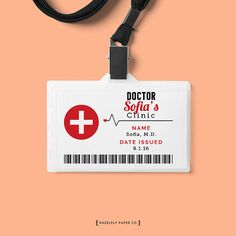 Doctor id badge doctor doctor pinterest badges for Dr name tag template