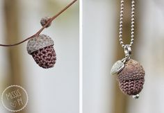 Herbst DIY Häkeleicheln :: Autumn craft - crochet acorns