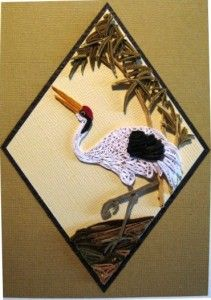 quilled Stork - Christine Donehue