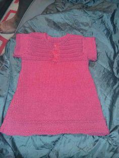 Petite robe en 1 mois / modèle phildar / laine cabotine / layette