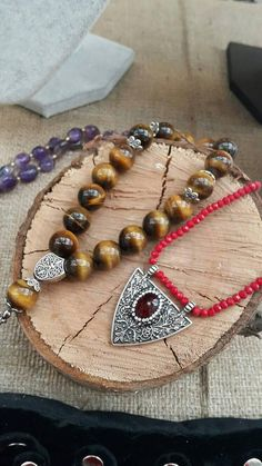 This prayer beads is very special. Made of 13 mm tigers eye beads. Unique for collectioners! ABOUT Jewelry Designer of Emotional Dreams offers an exciting collection, designed and handmade by designer herself. You will find a selection of rich gemstone designs. We hope that you will
