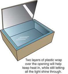 how to make a solar oven with a shoe box