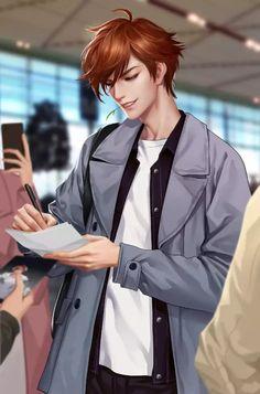Hot Anime Boy, Anime Art Girl, Character Portraits, Character Art, Anime Brown Hair, Li Bai, Fantasy Art Men, Handsome Anime Guys, Beautiful Anime Girl