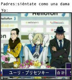 Resultado de imagen de memes de yuri on ice en español