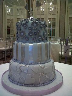 pretty silver cake