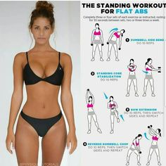 The standing workout for flat abs ❤️ Tag a friend who'd love this workout! The standing workout for flat abs ❤️ Tag a friend who'd love this workout! Fitness Workouts, Fitness Motivation, Training Fitness, Fitness Goals, Health Fitness, Daily Workouts, Beginner Workouts, Health Diet, Lower Ab Workouts