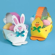 bunny box from paper plate & Paper Cup Bunny Basket craft!!! Great gift for a mom or dad on ...