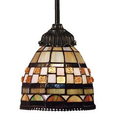 Elk Lighting Mini-Pendant Light with Multi-Color Glass | 078-TB-10 | Destination Lighting