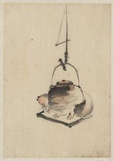 Bunbuku chagama (Badger tea kettle), 1830-1850 – Katsushika Hokusai