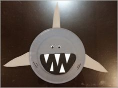paper plate shark craft for kids 4