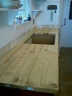 Wood board counter