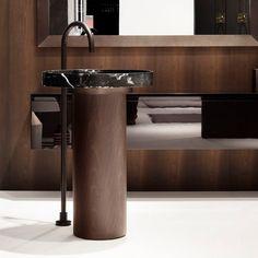 Lavabo sur pied rond en marbre Design by Victor Vasilev, Falper Countertop Basin, Countertops, Semi Recessed Basin, Washbasin Design, Square Sink, Bath Fixtures, Mirror Cabinets, Apartment Furniture, Wooden Decor