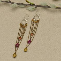 brass chain, silver links, silver circle link, earring design, finished jewelry