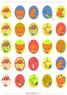 FREE printable fox planner stickers