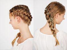 DIY-Anleitung: Einfache Flechtfrisur, Wasserfallzopf flechten / DIY-tutorial: simple braid,  waterfall plait via DaWanda.com