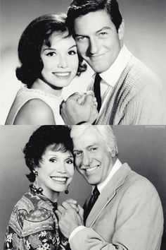 Dick Van Dyke and Mary Tyler Moore aka Rob and Laura from the Dick Van Dyke Show. Adorable.