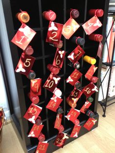 Wine Bottle Advent Calendar - How awesome is this?!