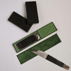 JADE BOOKBINDING STUDIO: a case for two paring knives by Midori Kunikata - Cockram