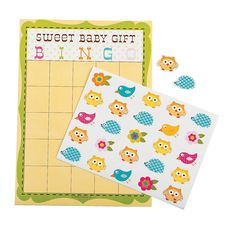 Happi Tree Baby Shower Bingo Game - OrientalTrading.com - IN-13675669