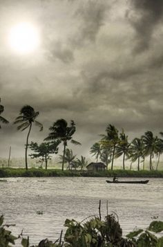 Kerala backwaters in monsoon.my lovely weather. I like such Kerala Kerala India, South India, Places To Travel, Places To Visit, Kerala Backwaters, Monsoon Rain, Rio, Paradise On Earth, Through The Looking Glass
