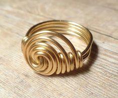 Gold Sideways Ring