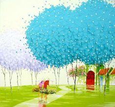 Phan Thu Trang é uma jovem artista emergente de que pinta com a impressão das cidades e aldeias do norte do Vietnã. Sua espessura textural impasto é tão vibrante em vermelho, laranja, amarelo e azul, que faz com que todo um novo gênero da paisagem. Um que é cheio de cor, emoção, simplicidade e alegria de viver e nos faz lembrar de bênção e beleza da natureza.