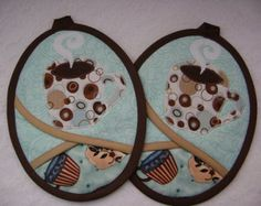 Snowman Potholders by VernieLeeDesigns on Etsy