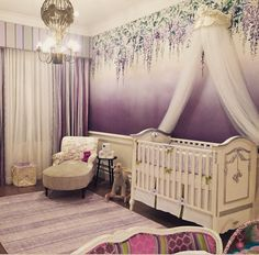 Lavender Nursery featuring New Arrivals Sweet Violet Lavender Baby Bedding