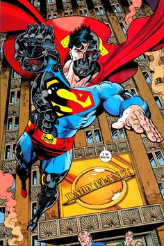 Reign of the Supermen: the Cyborg, a.k.a. Hank Henshaw. With his appearance resembling a certain futuristic android, this was probably a tip-of-the-hat to Dark Horse.        Hank's origin, and honestly most of his existence, is just heartbreaking.