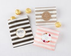 The guests at your vineyard celebration are in for a treat! Our Striped Paper Favor Bags - Vineyard are available in a number of bright colors to complement your vineyard event decor. My Wedding Favors, Bridal Shower Favors, Bridal Showers, Wedding Sets, Wedding Things, Fall Wedding, Personalized Favors, Personalized Wedding, Party Favor Bags