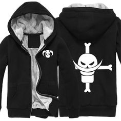 Vicwin-One One Piece White Beard Logo Thick Hoodie Costume Cosplay (Size XL) ** See this great product.