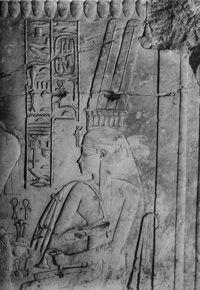 第47号墓ティイ王妃のレリーフ(Carter 1903 pl.II)