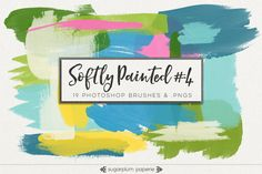 Softly Painted #4 : Brushes by Sugarplum Paperie on @creativework247