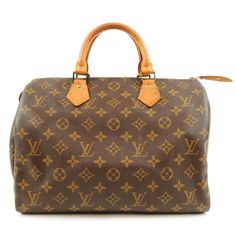 a4e02977fad8 Authentic LOUIS VUITTON Monogram Alma Hand Bag M51130 Brown Used F S ...