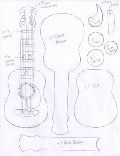 Molde de Violão e Guitarra em Feltro - Como Fazer