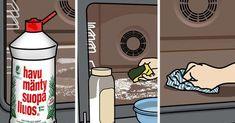 Uunin puhdistus onnistuu ilman turhaa jynssäystä ja tehokkaita pesuaineita muutaman kikan avulla. Lue Meidän talon vinkit. Housekeeping, Cleaning Hacks, Diy And Crafts, Projects To Try, Kitchen Appliances, Crafty, Aromatherapy, Eggs, Household