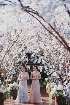 Lush sakura wedding arbour // The Wedding Scoop's Top 10 Weddings of 2015