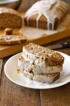 Gingerbread Loaves with Lemon Glaze - Pinch of Yum