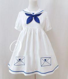 Japanese kawaii sailor collar dress