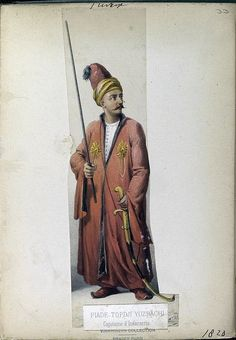 Topchou Bashi or Topcu Basi Master General of Artillery, Ottoman soldier.