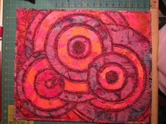 Quilting: Stitch and Slash on fire!
