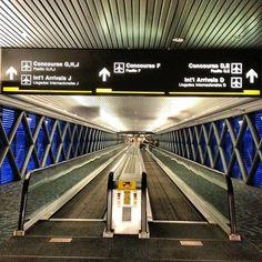 Miami International Airport Florida MIA Mover Concourse Terminal Travel