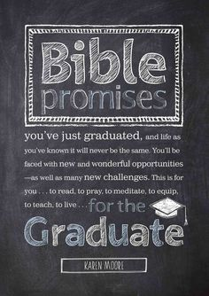 Bible Promises for the Graduate gathers inspiring devotions with uplifting passages from the HCSB translation, offering timeless guidance and wisdom for those with a whole new world ahead of them. It'