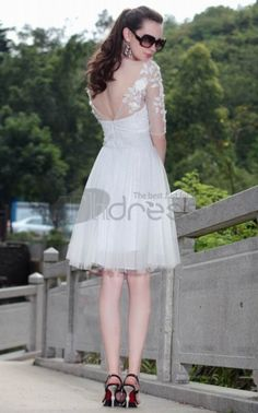 V-neck White Short Evening Dress with Half Lace Sleeves For Sale Today Dresses Short, Dresses 2013, Short Mini Dress, Sexy Evening Dress, Evening Dresses, Bridesmaid Dresses, Prom Dresses, Wedding Dresses, Mini Dresses