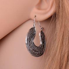 Hollow Bohemia Style Tibetan Hoop Earrings