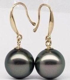 Fashion Boutique 10 mm South Sea Gold Shell Perle Pendentif Dangle Boucles d/'oreilles Set AAA
