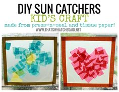 DIY Kids Crafts SunCatchers