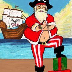 Pirate Santa by artist DePaula