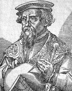 Petrus Apianus fue un humanista alemán conocido por sus importantes trabajos en matemáticas, astronomía y cartografía. Fue nombrado matemático del emperador Carlos V a quien había dedicado una de las obras que más fama le dio, el Astronomicum Caesareum.